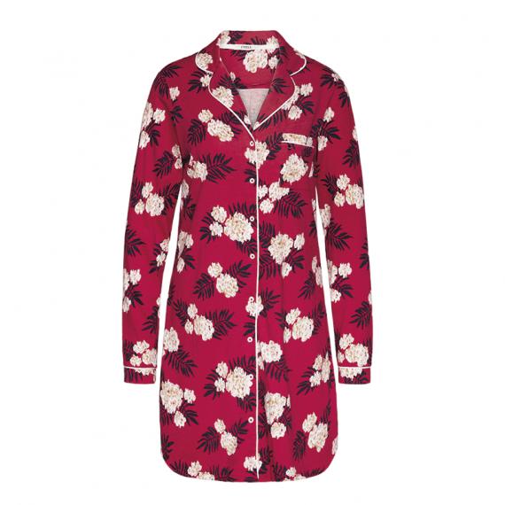 Cyell Sleepwear Fleur Rouge Nachthemd Met Lange Mouwen Annadiva
