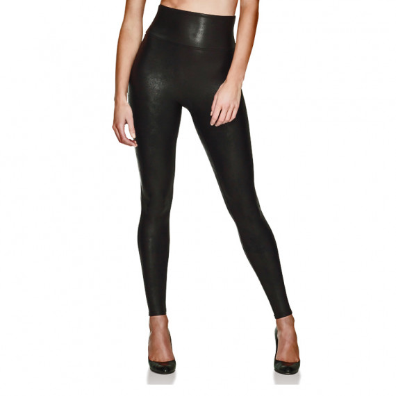 Corrigerende Sportlegging.Spanx Ready To Wow Faux Leather Corrigerende Legging Annadiva