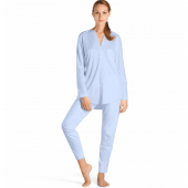 Hanro Pure Essence Pyjamaset Blue Glow