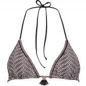 Watercult Afro Gem Triangle Bikinitop Black Canvas