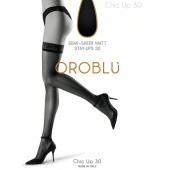 Oroblu Bas Chic Up Stay-Up Panty 30 Denier Zwart