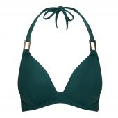 Miss Mandalay Boudoir Beach Halter Bikinitop Pine Green
