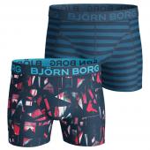 Bjorn Borg Splinter & Twin Strip 2-Pack Boxershorts Blauw - Annadiva