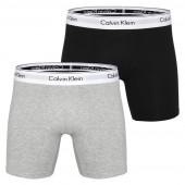 Calvin Klein Modern Cotton 2-Pak Boxershorts Heren grijs + zwart