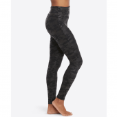 Spanx Faux Leather Camo Legging Black Camo