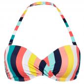 Beachlife Candy Stripe Multiway Bikinitop