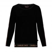 Charlie Choe Blossom Dreams Pyjamashirt Met Lange Mouwen Black