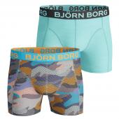 Björn Borg Contrast Camo 2-Pack Boxershorts Aquarius