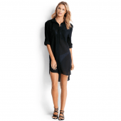 Seafolly Crinkle Lange Blouse Black