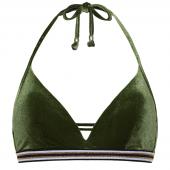 Beachlife Cypress Padded Triangle Bikinitop Velvet Green