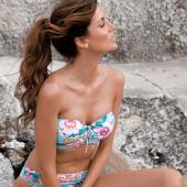 Cyell Flower Riviera Bandeau Bikinitop