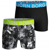 Bjorn Borg Flowershade 2-Pack Boxershorts Pirate Black