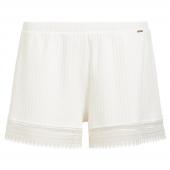 Cyell Sleepwear Silky Rib Korte Pyjamabroek Ivory