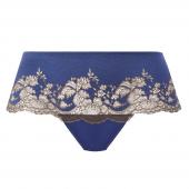 Wacoal Lace Affair String Blue Print