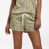 Cyell Sleepwear Leopard Pyjamashortje Yellow