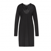 Cyell Sleepwear Luxury Essentials Nachthemd Met Lange Mouwen Black