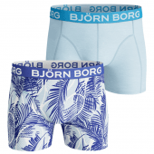 Bjorn Borg Miami Tennis 2-Pack Boxershorts Crystal Blue