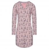 Charlie Choe Paris Mon Cherie Nachthemd Met Lange Mouwen Roze