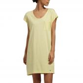 Cyell Sleepwear Pinstripe Nachthemd Yellow - Annadiva