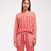 Cyell Sleepwear Zigzag Pyjamashirt Fire