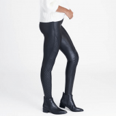 Spanx Faux Leather Quilted Legging Very Black