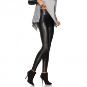 Ready-to-Wow Faux Leather Corrigerende Legging Black