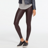 Spanx Ready-to-Wow Faux Leather Corrigerende Legging Wine