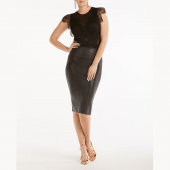 Spanx Faux Leather Rok Very Black