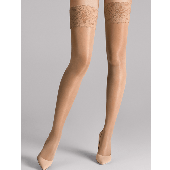 Wolford Satin Touch Stay-up Kousen 20 Denier Caramel