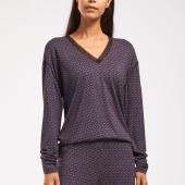 Cyell Sleepwear Scratches Pyjamashirt Met Lange Mouwen Black