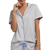 Cyell Sleepwear Sharp Look Pyjamashirt Ivory - Annadiva