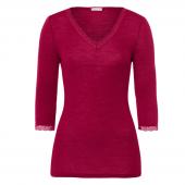 Hanro Woolen Lace 3/4 Sleeve Shirt Lucky Charm