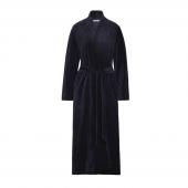 Cyell Sleepwear Soft Velours Navy Badjas