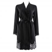 Aubade Soie D'Amour Kimono Noir