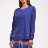 Cyell Sleepwear Solid Pyjamashirt Electric Blue