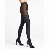 Wolford Sparkle Strip Panty Black/Blue