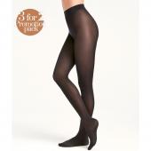 Wolford Velvet de Luxe Panty 66 Denier 3-pack Black