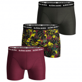 Bjorn Borg Winter Leaf 3-Pack Boxershorts Beet Red