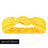 Annadiva Yellow Dot Haarband